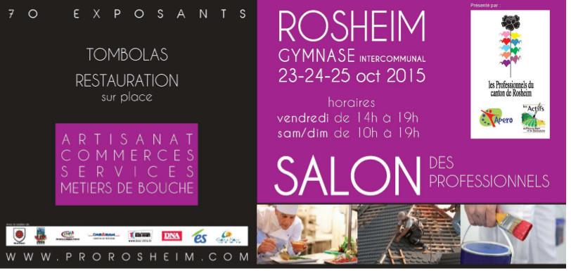 Salon des professionnels de rosheim les 23 24 25 octobre for Salon professionnels