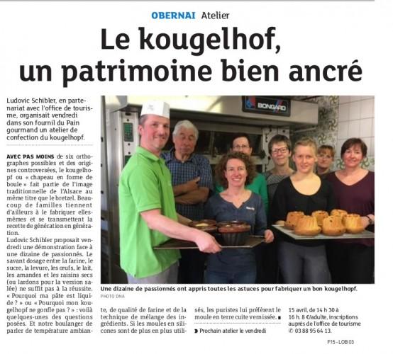 13.04.16 DNA - Obernai - Fournil du Pain Gourmand - Atelier kougelhof avec l'OdT