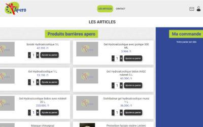 Site de vente en ligne covid.apero.fr